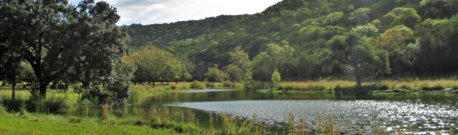 pond in the hills