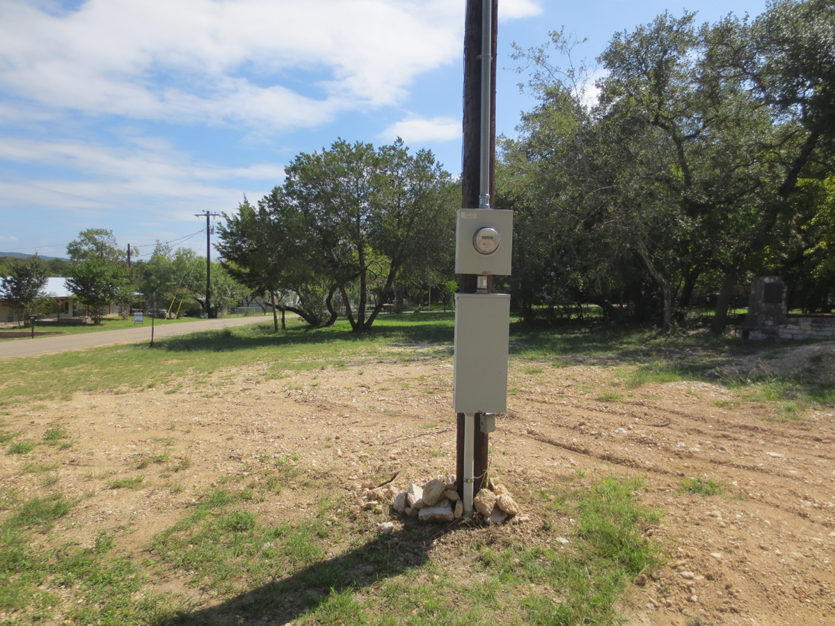 Electric Pole with RV hook up.