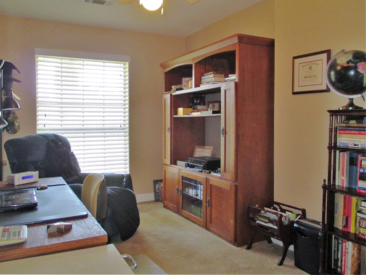 This bedroom used as an office at 503 Oak Bend.