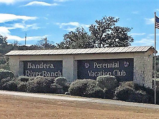 Bandera River Ranch entrance to community is easy to find on Highway 16S