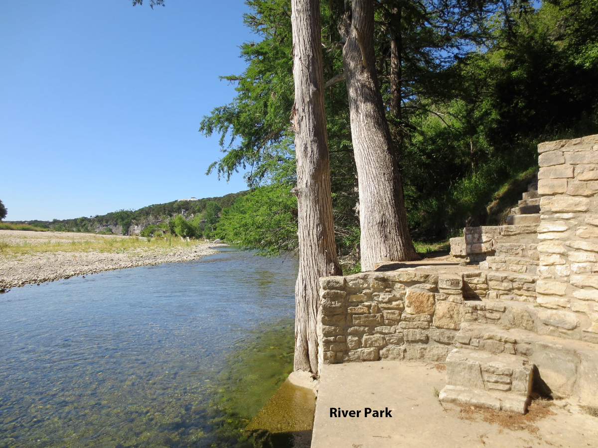 Steps leading to River Park at Comanche Cliffs.