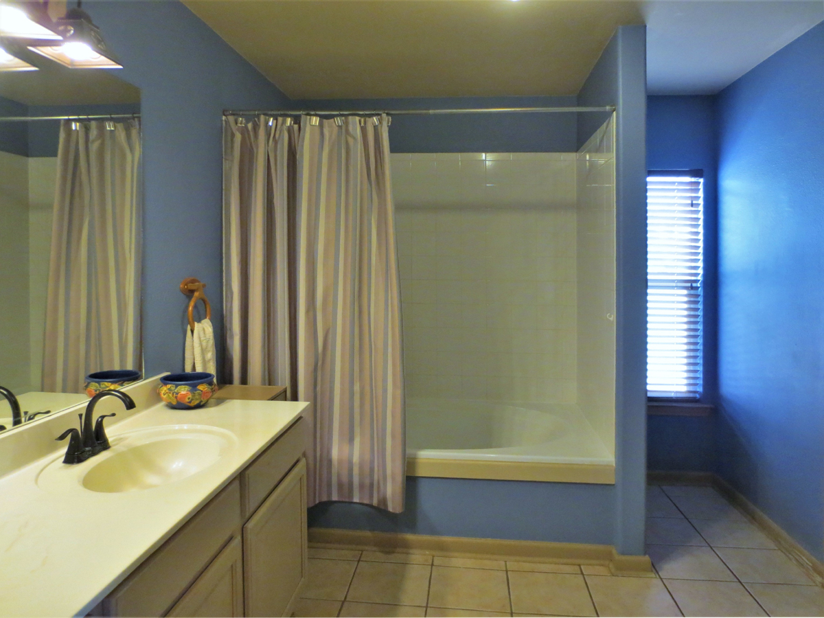 Vanity and shower in Wagon Trail