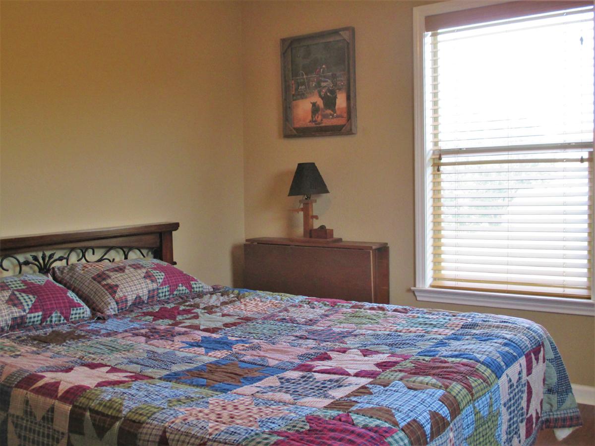 Looking toward window in bedroom at Wagon Trail