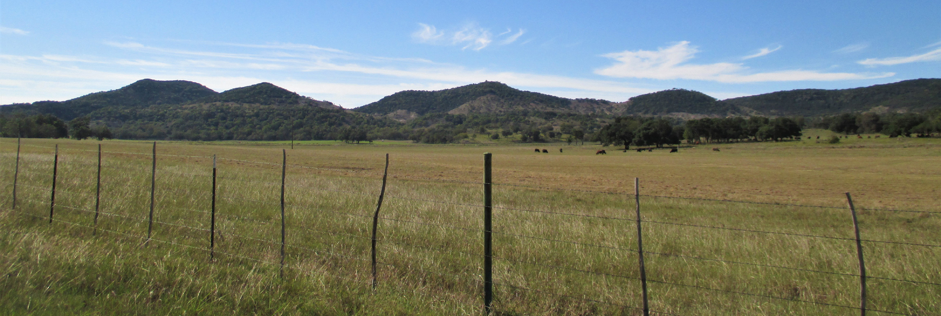 fenceline with hills in the background