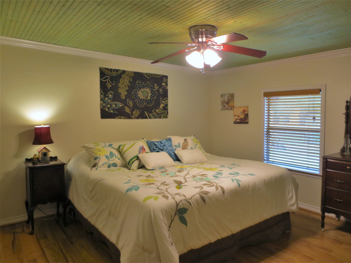 Master Bedroom with bead-board ceiling