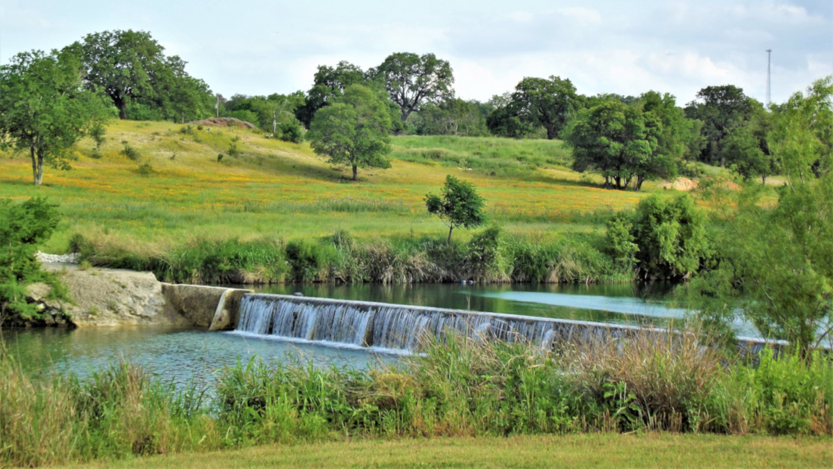 Peaceful waters and pastures in the Texas Hills