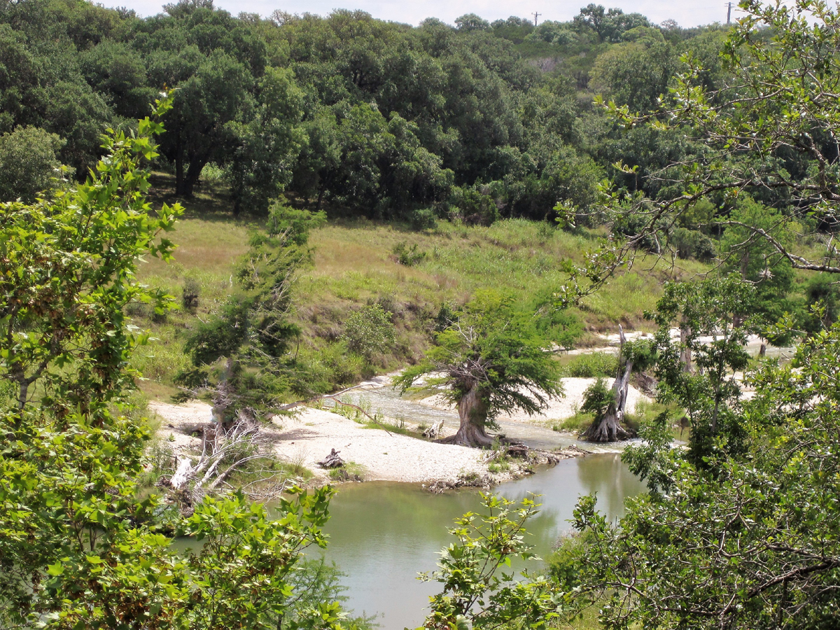 View of the river from Comanche Path River Lot