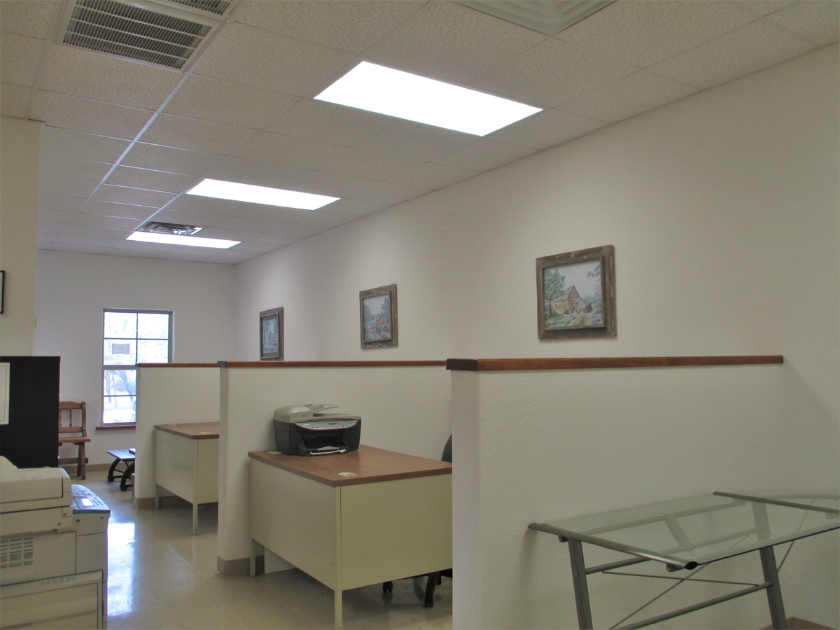 Inside Office #1 - view of office area cubicles